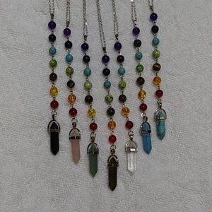 Jewelry - 7 chakra pendulum necklace